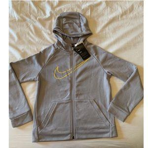 Nike zip hoodie sweater embossed